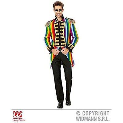 Frac Rainbow Parade Man Multicolor - Mens Tailcoat Jacket Ringmaster Circus - Mens Ringmaster Jacket