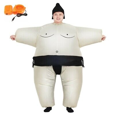 Inflatable Sumo Wrestler Fancy Dress Halloween Costume Adult Child Blowup Suit](Inflatable Sumo Halloween Costumes)