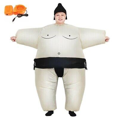Sumo Wrestlers Costume (Inflatable Sumo Wrestler Fancy Dress Halloween Costume Adult Child Blowup)