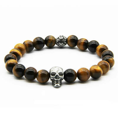 Real Tiger Eye Bracelet Strength Courage Luck Wealth Gemstone Bracelet Men Women