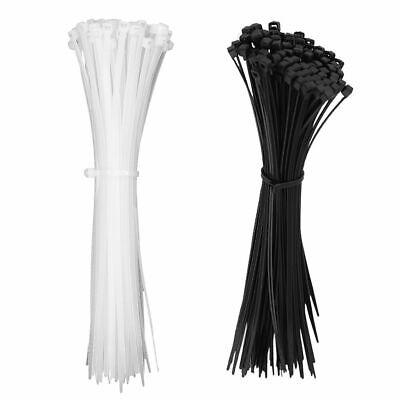 1000pcs 8 12 Self-locking Nylon Plastic Wrap Zip Ties Cord Wire Cable Ties