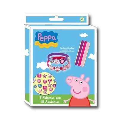 PEPPA PIG 21-teiligen Armband SET für 3 Armbänder Neu