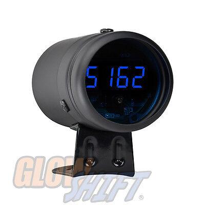 Black Digital Tachometer & Blue LED Shift Light - GS-DTBB