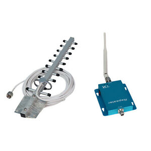 Phonetone 2100MHz 70dbi 3G/LTE Signal Repeater Booster+2Antenna For Mobile Phone