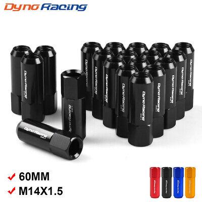 20pcs Racing Lug Nuts M14x1.5 Car Wheel Rims Extender Tuner Black Aluminum 60mm