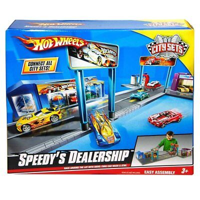 Hot Wheels Speedy's Dealership City Sets Series Playset.