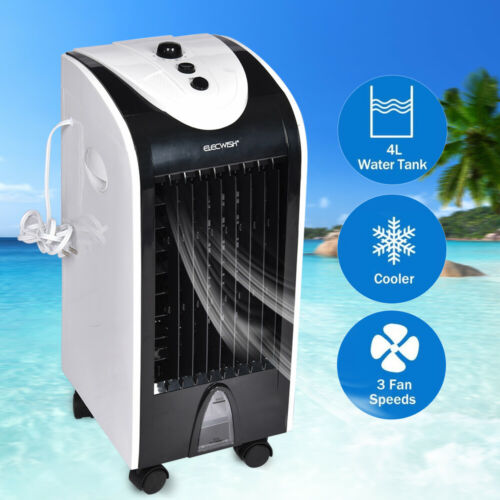 Mini Portable Air Condotioner Cooler Cooling Fan Evaporative Humidifier 4L Home