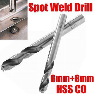 2x 6mm8mm Hss Co Cobalt Spot Weld Drill Welder Remover Cutter Drill Bit Tool