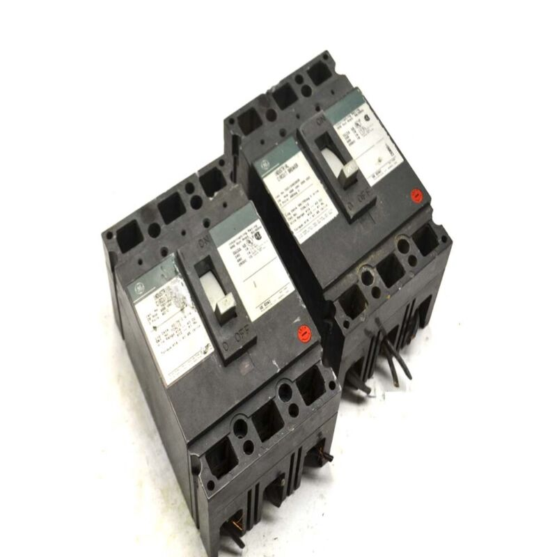 (2) General Electric GE TED134020GR 3P 20A Industrial Circuit Breakers 480V