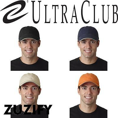 UltraClub Classic Cut Brushed Cotton Twill Sandwich Cap. 8112  Ultraclub Cotton Sandwich Cap