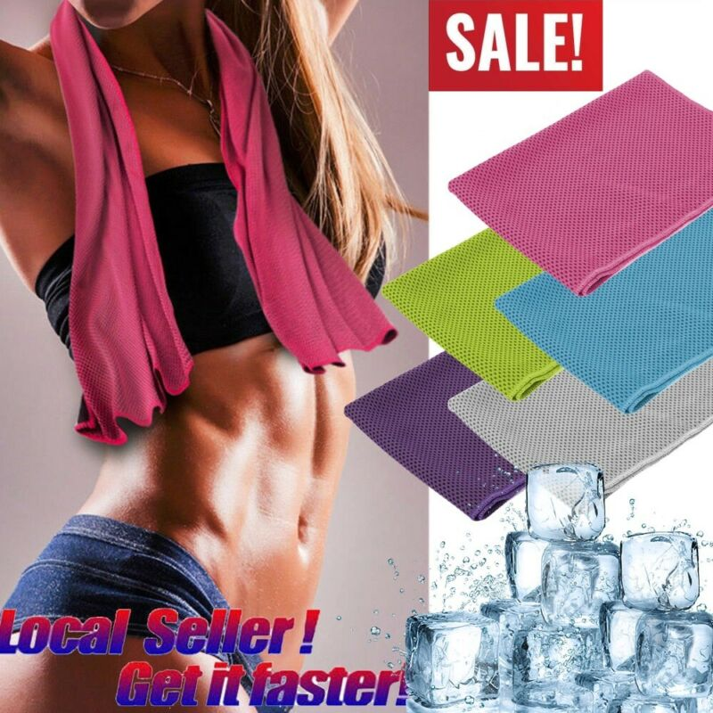 10 Pack Instant Ice Cooling Towel Sports Workout Fitness Gym Yoga Hiking Pilates