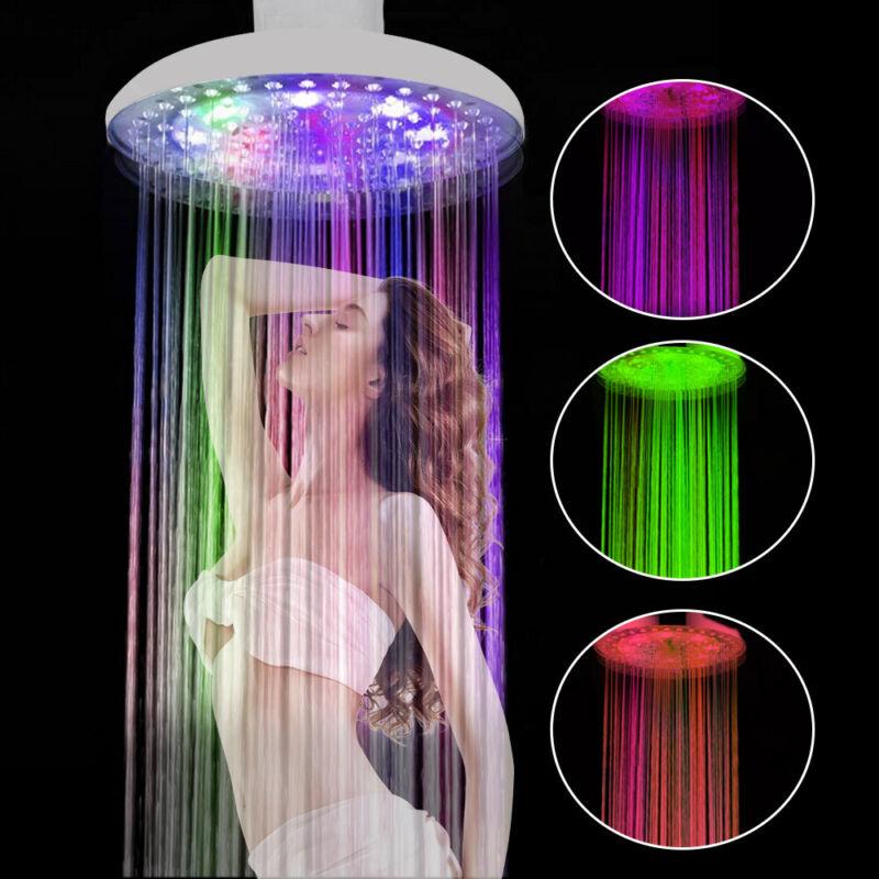 Großer Duschkopf Regendusche Kopfbrause Regenbrause LED Licht Beleuchtung DE NEU