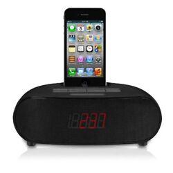 Memorex FM Bedside Dual Alarm Clock Radio Black