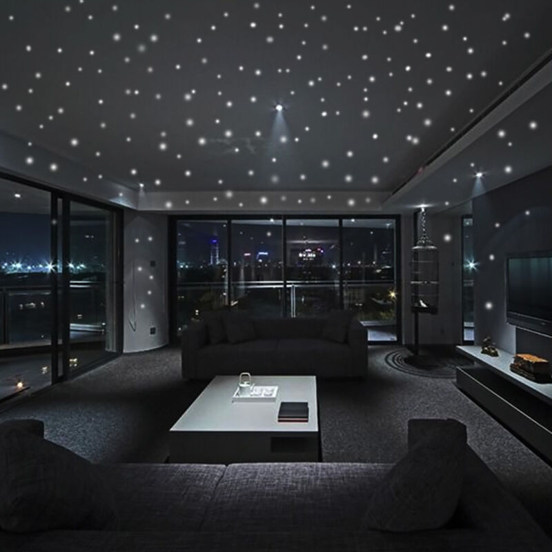 Home Decoration - Glow In The Dark Star Wall Stickers 104Pcs Round Dot Luminous Kids Home Decor