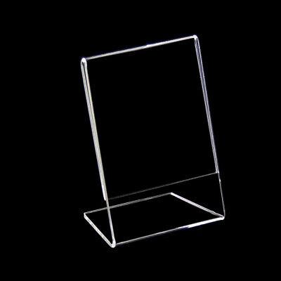24 x Prospektständer Preisschildhalter, L-Ständer DIN A7 Hoch Neu (100807)