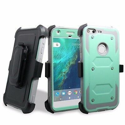 For Google Pixel 2016 Holster Case Cover Built-in Screen Protector W Belt