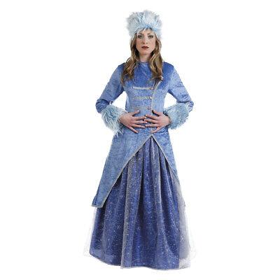 Russische Kostüme (Russische Prinzessin Damenkostüm Zarin Mütterchen Frost Damen Kostüm)