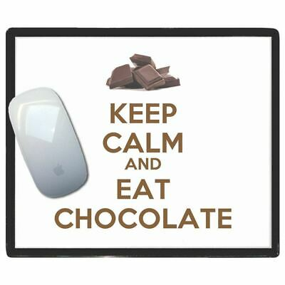 Keep Calm And Eat Chocolate - Thin Pictoral Plastic Mouse Pad Mat Badgebeast