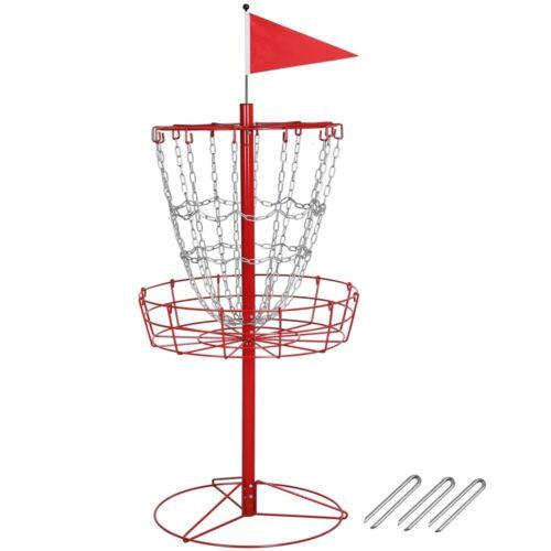 Portable Disc Golf Basket Practice Target Steel Disc Golf Goals Indoor/Outdoor R