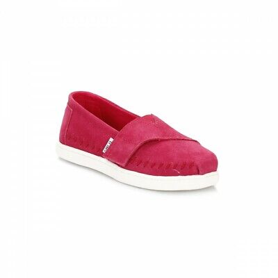 Toms Toddler Tiny Girls Classics Sneakers Fuchsia Suede 6 New