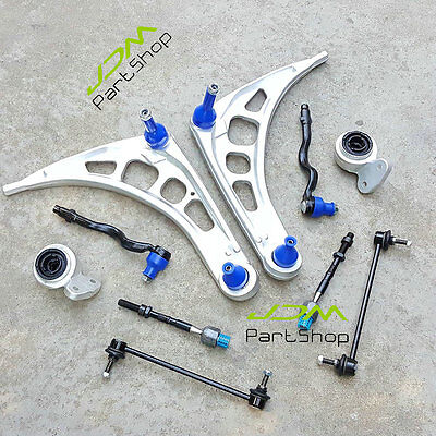 for BMW E46 Front End Suspension Control Arms Wishbone Ball Joints Bushing Kit
