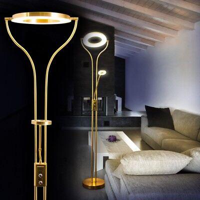 LED Lámpara de pie elegante ambas luces intensidad luz regulable hogar salón