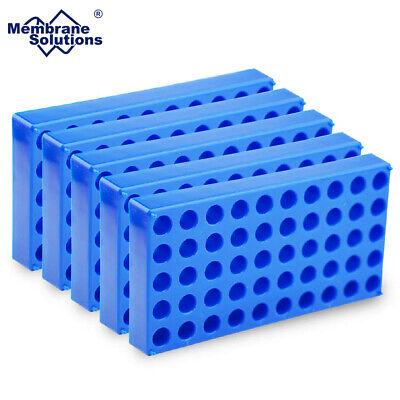 5 Pack Vial Rack Single Blue Holds 50 Standard 12mm 2ml Autosampler Vials