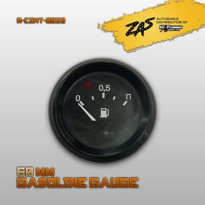 Black Bezel Gas Fuel Level Gauge Analogue W/ Light Car Marine Boat 60mm 12V