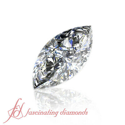 Marquise Very Good Cut Natural Loose GIA Certified Diamond SI2-D Color 0.51 Ct.