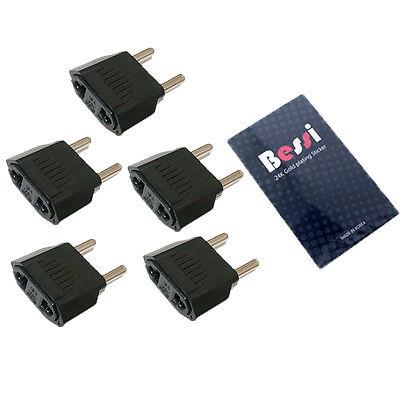 (110V to 220V) 5pcs 220V plug adapter USA to EU/ travel adapter/ converter/korea