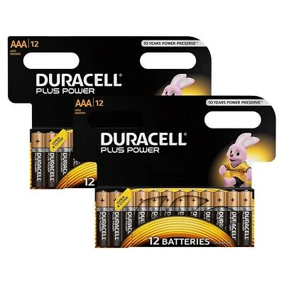 24 Pack of Duracell Plus Power AAA Batteries 1.5V Alkaline MN2400 LR03 AAA for sale  Shipping to Ireland