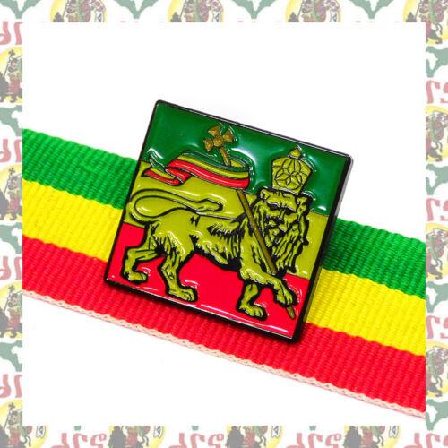 Lion of Judah [drs] 2D Pins Badge Ethiopia  Reggae Dub Haile Selassie I