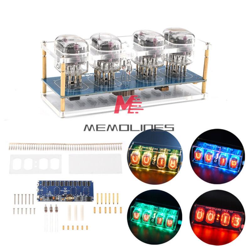 Glow Tube Retro Sleepable Clock Module Micro Usb In12 In-12 Pcba Diy Kit