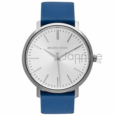 Michael Kors Authentic Watch MK2535 Silver Case Women's Jaryn Blue Silicone