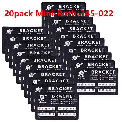 20pack Dental Brackets Brace Mini Roth 022 Slot 345 Hooks Metal Orthodontic