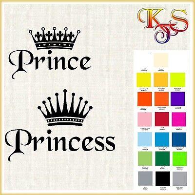 ♡♥ Bügelbild Bügelbilder Hotfix  Prince Princess Krone Flex Folie 20 Fb ♡♥