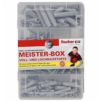 Fischer Meisterbox SX Dübel Ø 6 / 8 Teile Sortiment Schrauben Allzweckdübel