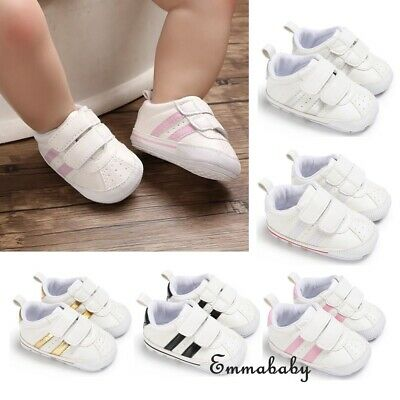 0-18M Baby Boy Girl Anti-slip Soft Sole Crib Shoes Newborn Sneakers Prewalkers