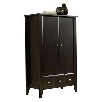 دولاب جديد Sauder Shoal Creek Armoire – Jamocha Wood