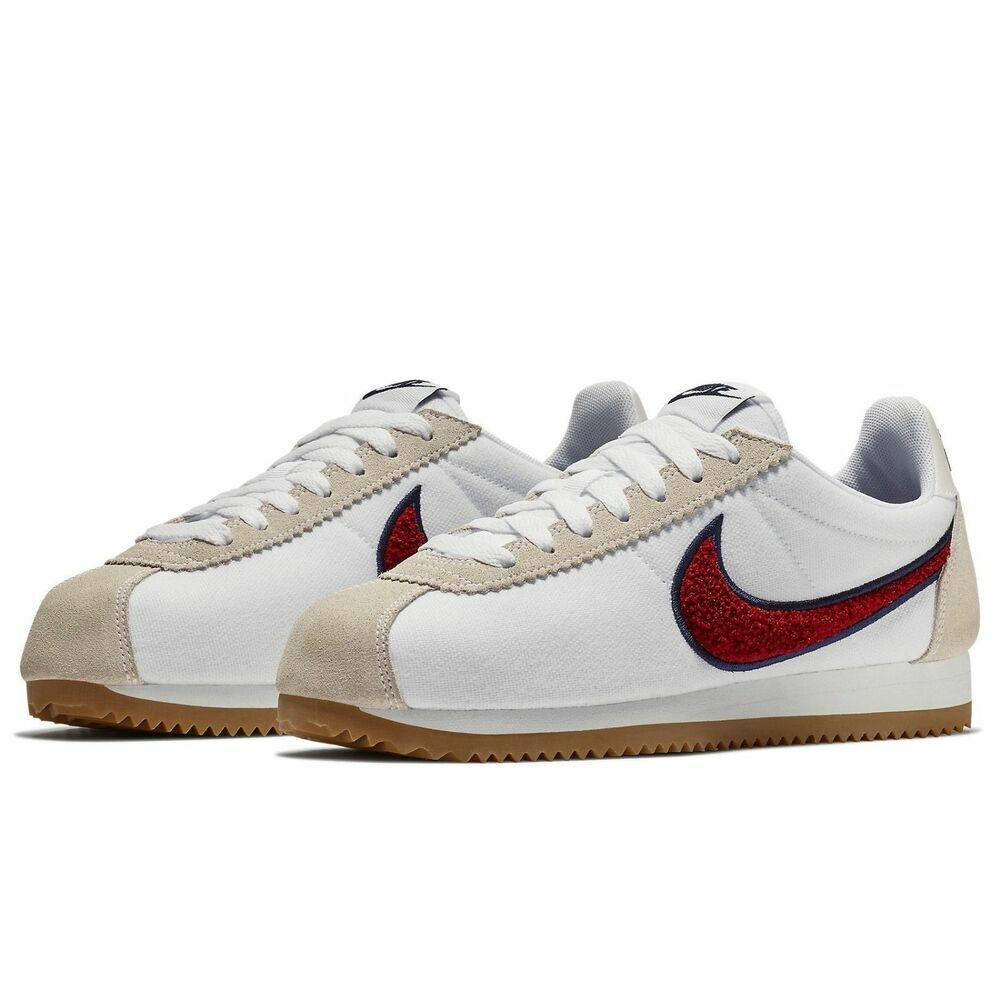 Nike Classic Cortez PREM White Red 905614-103 Casual Shoes Women's Multi Size