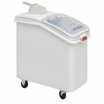 Rubbermaid Prosave 26 Gal White Plastic Ingredient Bin With Lid And 32 Oz Scoop