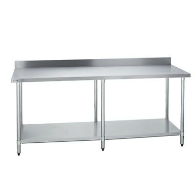 Stainless Steel Commercial Work Prep Table - 4 Backsplash - 30 X 96 G
