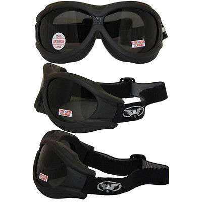 Global Vision Big Ben Smoke Anti Fog Goggles Will Fit Over Most Glasses W Pouch