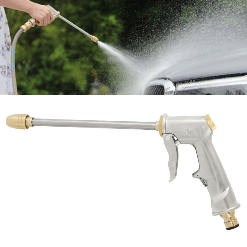High Pressure Water Spray Gun Brass Nozzle Garden Hose Pipe