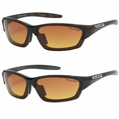 Hd High Definition Vision Driving Sunglasses Wraparound Amber Lens Glasses Usa