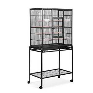 Pet Parrot Aviary Bird Cage w/ Wheels Stand 160cm Black Silverwater Auburn Area Preview
