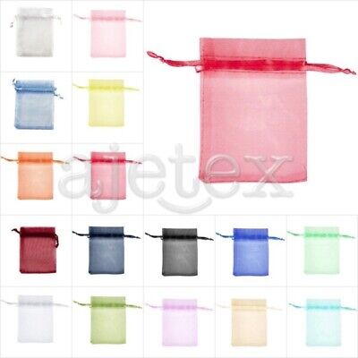 25pcs ORGANZA GIFT BAGS Wedding Jewellery Candy Pouches 26 Colors&7 Sizes FB Bridal Wedding Gift Wrap