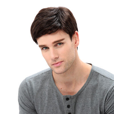 STfantasy Brown Wig for Men Halloween Cosplay Short Synthetic Hair  Male Guy (Brown Wig Halloween)
