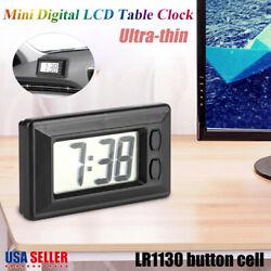 Digital LCD Table Auto Car Taxi Date Dashboard Desk Time Calendar Small Clock US