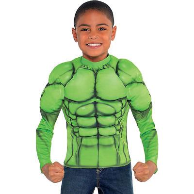 Captain America Bürgerkrieg Hulk Muskel Jungen T-Shirt Kostüm Marvel Comics Neu ()